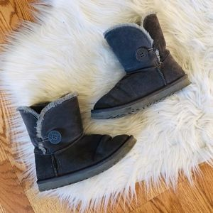 UGG Gray Short Button Boots 6